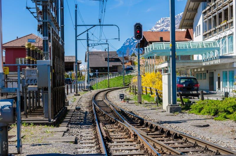 Un ferrocarril de Brienz imágenes de archivo libres de regalías