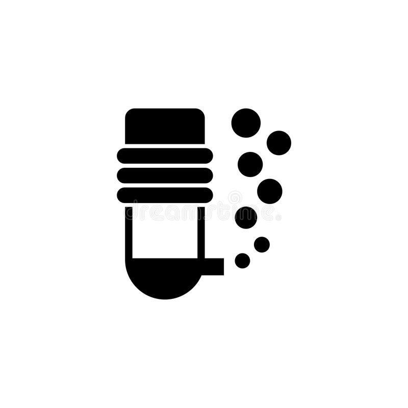 Un filtro externo del bote del filtro del acuario con una barra del espray libre illustration