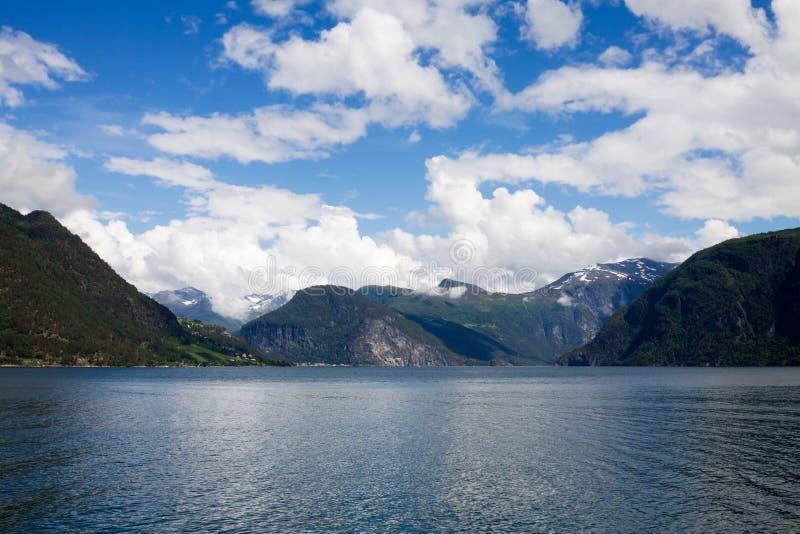 Un fiordo in Norvegia immagine stock libera da diritti