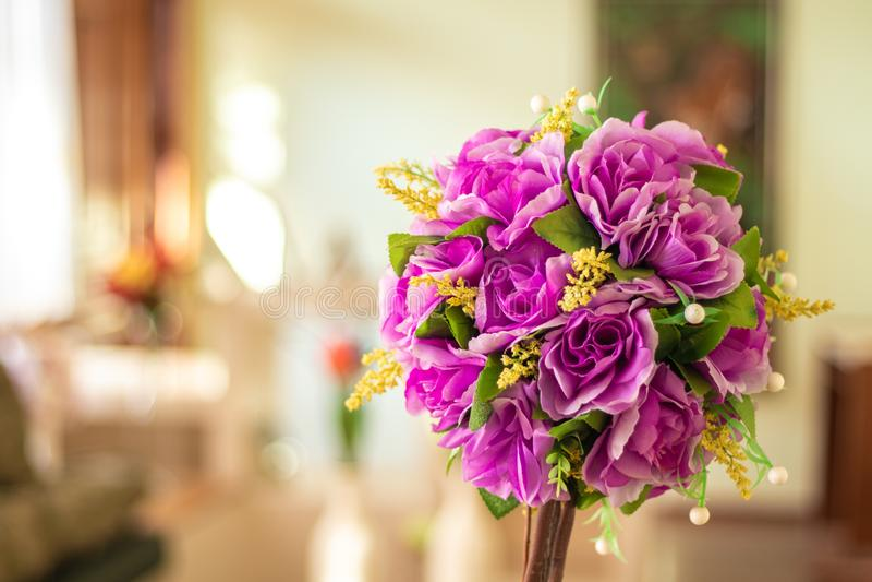 Un fiore artificiale bello come naturale fotografia stock