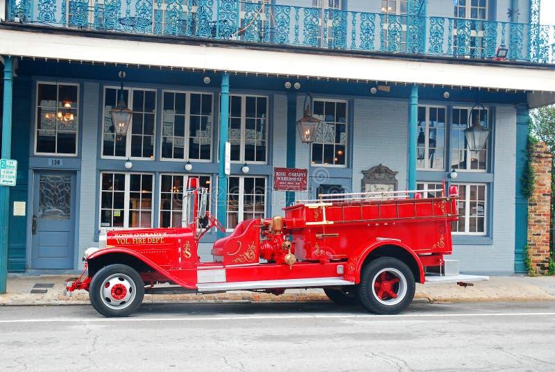 Un firetruck antique Pensacola, la Floride photos libres de droits