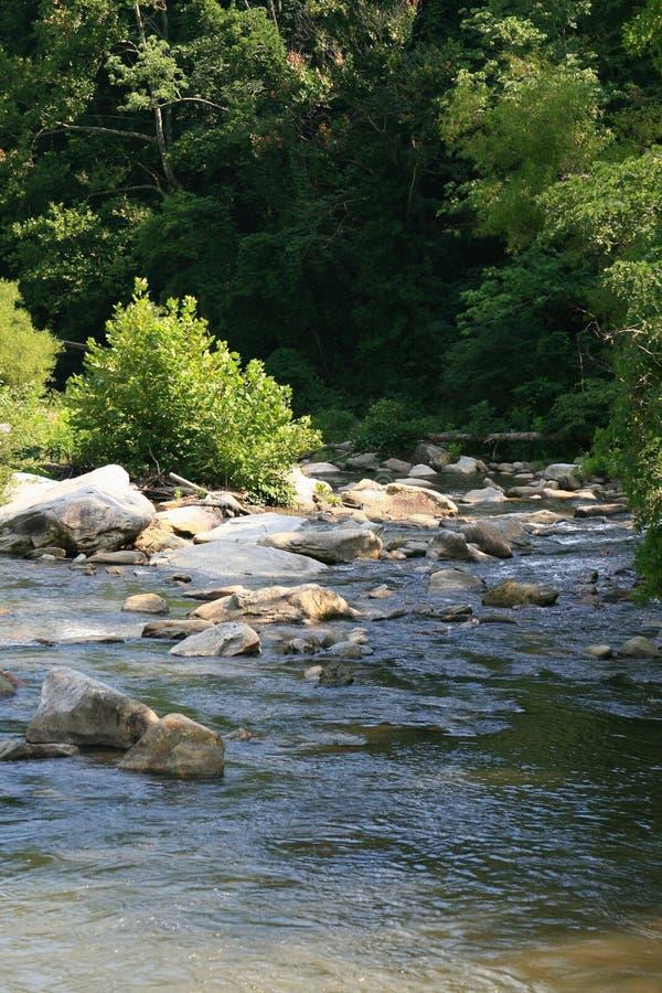 Un fleuve dans les montagnes photo stock