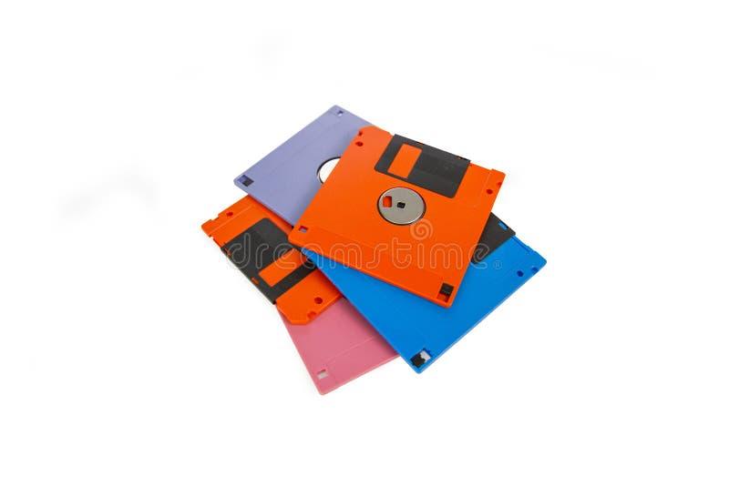 Un floppy disk, inoltre ha chiamato un floscio, dischetto immagine stock