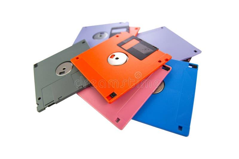 Un floppy disk, inoltre ha chiamato un floscio, fondo bianco isolato dischetto immagini stock