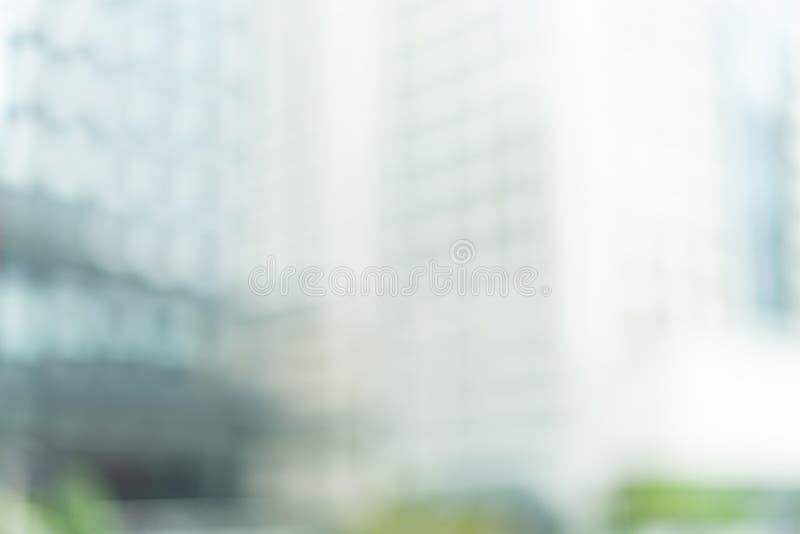Un flou abstrait de la construction d'un centre commercial en pleine journée photographie stock libre de droits
