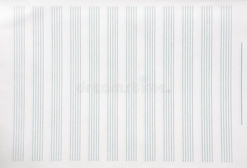 Un foglio di carta della doga fotografia stock