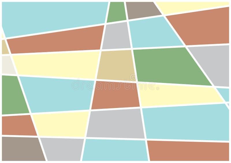 Un fond coloré de vecteur avec des formes géométriques illustration libre de droits