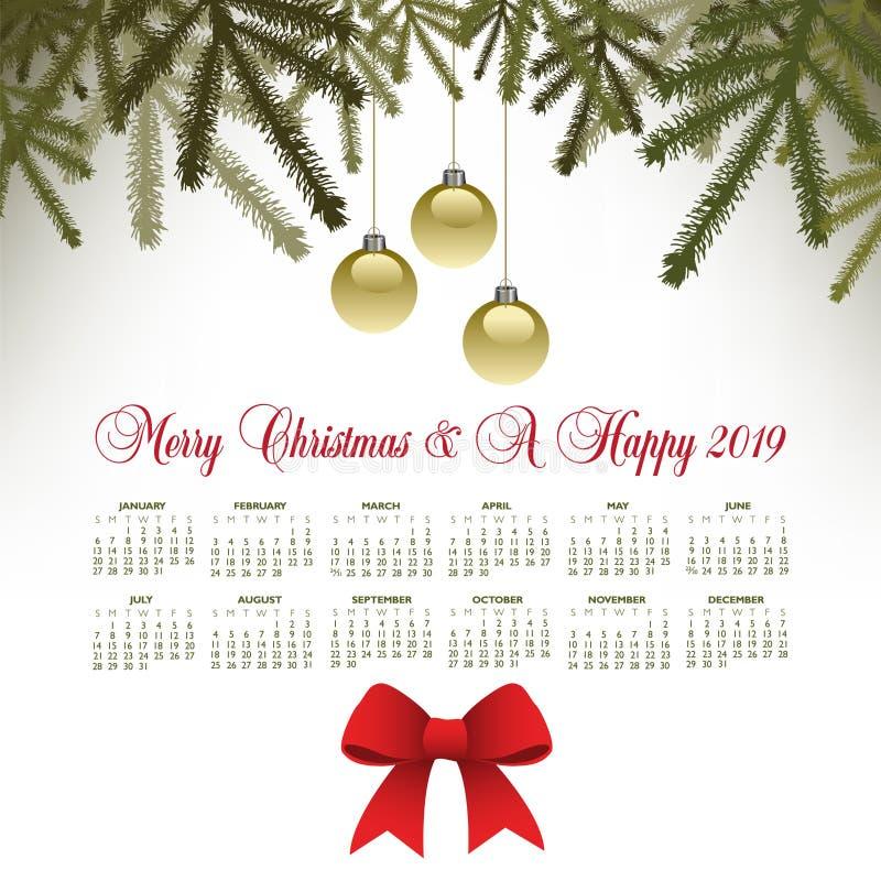Un fond de Joyeux Noël de motif de pin illustration de vecteur