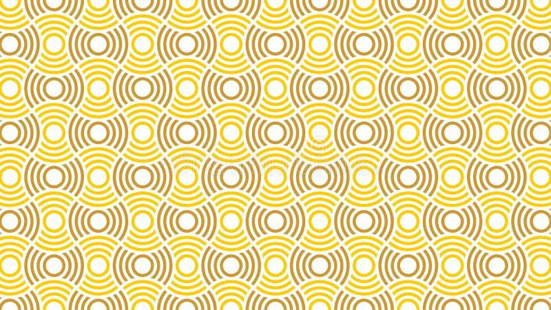 Un fond merveilleux pour un groupe d'entrelacé et gradient entoure en couleurs entre blanc, jaune et or, et un geom abstrait illustration stock