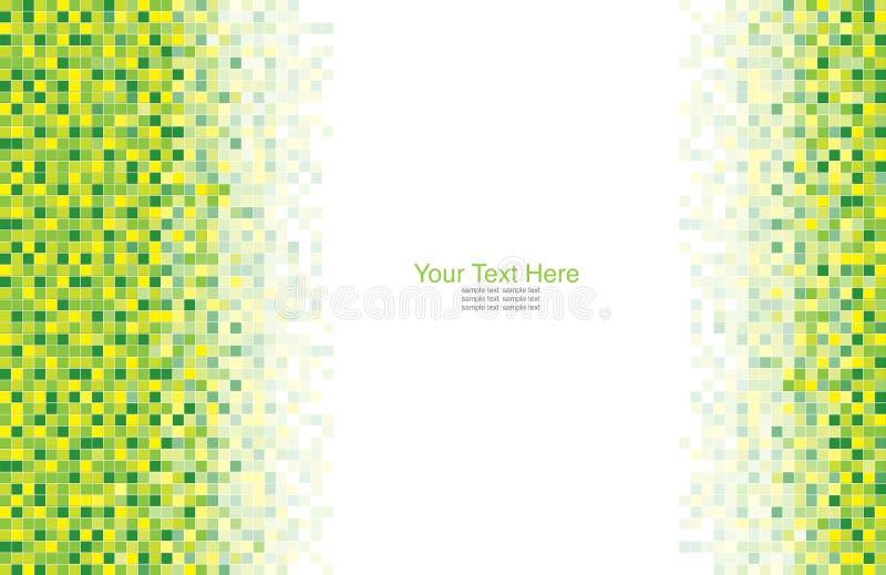 Un fond vert de mosaïque illustration de vecteur