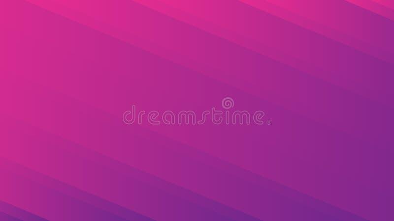 Un fond violet et rose avec les lignes diagonales abstraites résumé illustration de vecteur