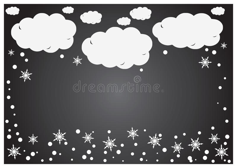 Un fondo astratto di Libro Bianco si appanna con i fiocchi di neve sopra grey royalty illustrazione gratis