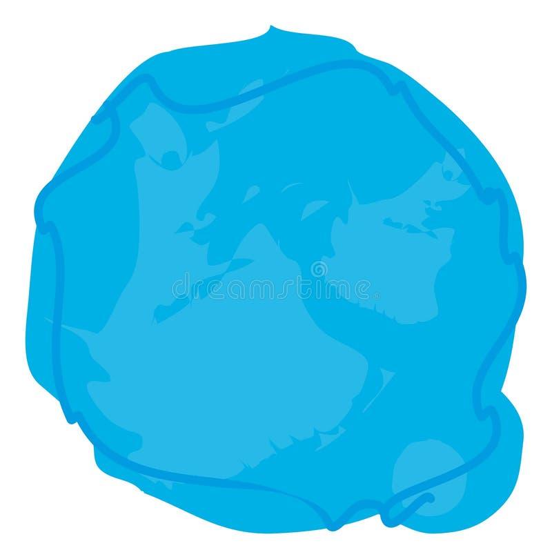 un fondo azul del círculo de la gota ilustración del vector
