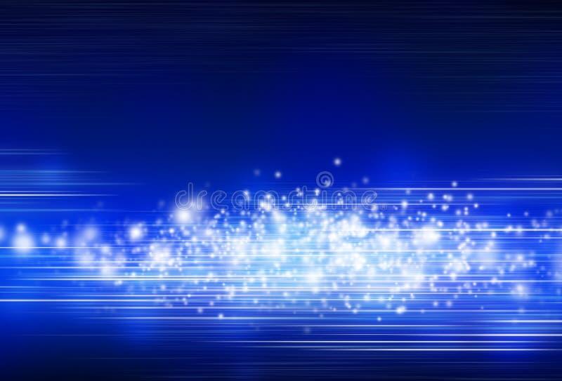 Fondo blu astratto con le luci illustrazione vettoriale