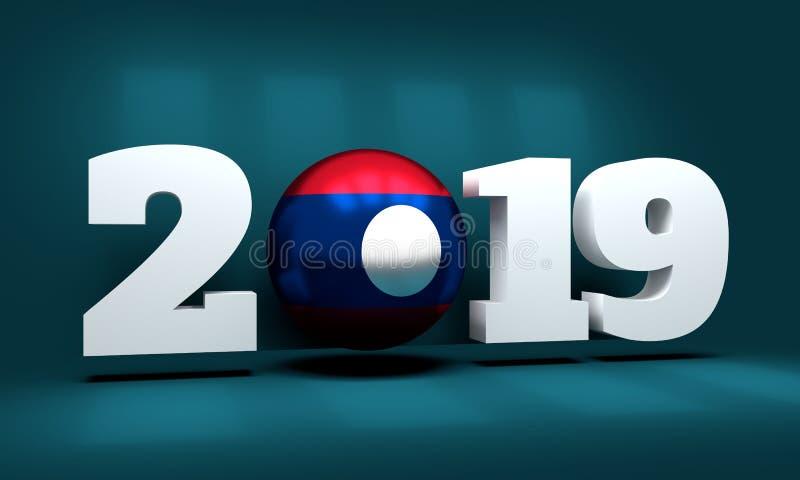 Un fondo da 2019 nuovi anni illustrazione di stock