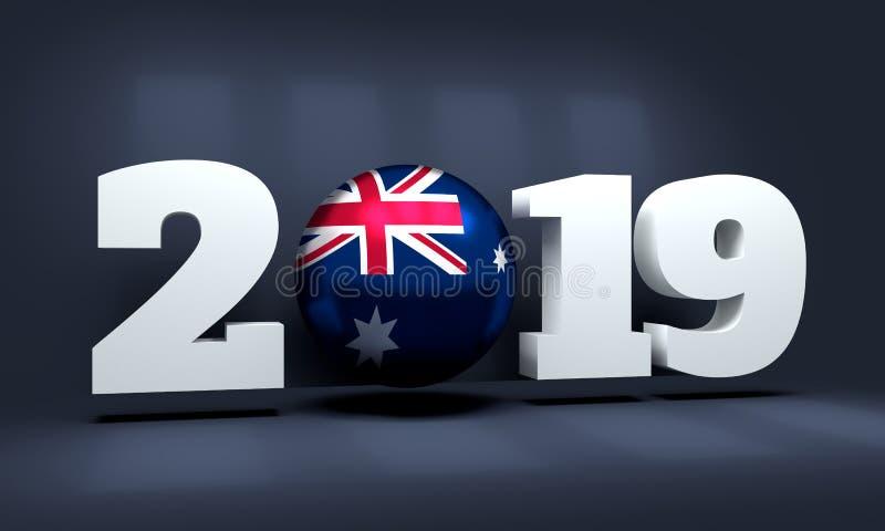 Un fondo da 2019 nuovi anni illustrazione vettoriale