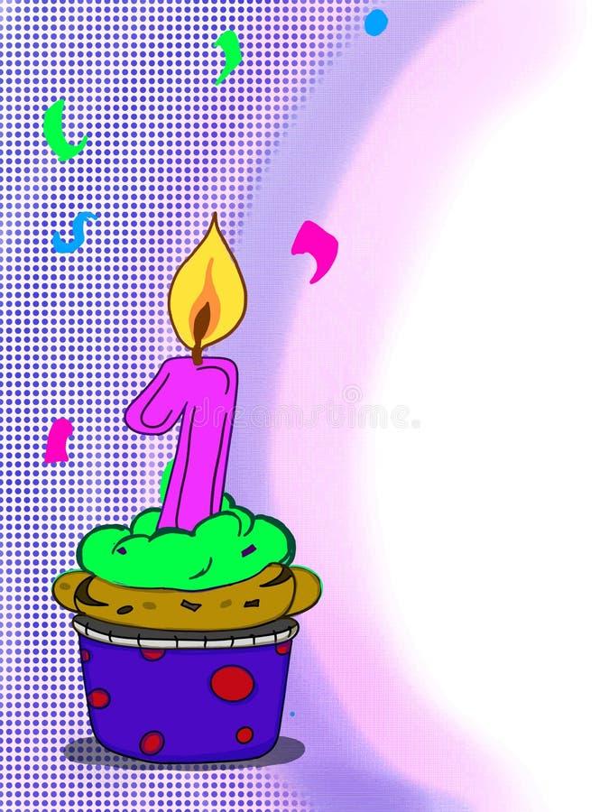 Un fondo de dibujo del blanco del ejemplo del dibujo de la torta de la taza del ejemplo del rosa del año del número libre illustration