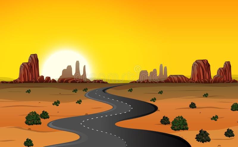 Un fondo del camino del desierto libre illustration