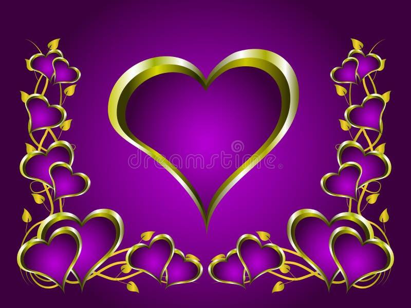 Un fondo del día de tarjetas del día de San Valentín stock de ilustración