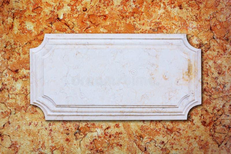 Un fondo del marmo dell'insegna fotografie stock libere da diritti