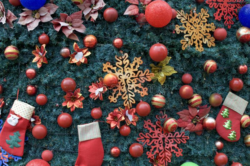 Un fondo della decorazione dell'albero di Natale immagini stock