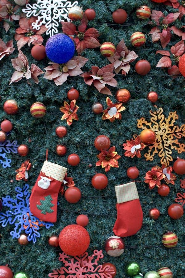 Un fondo della decorazione dell'albero di Natale fotografia stock libera da diritti