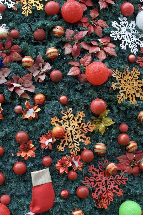 Un fondo della decorazione dell'albero di Natale fotografia stock