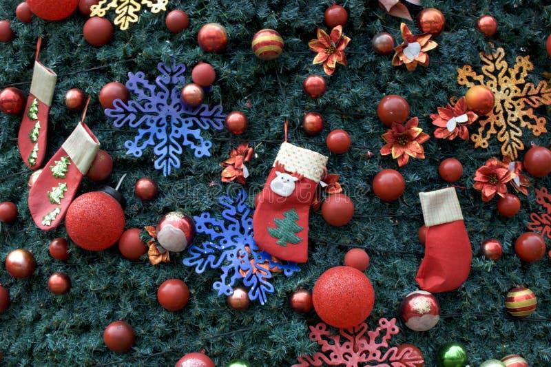 Un fondo della decorazione dell'albero di Natale immagine stock libera da diritti