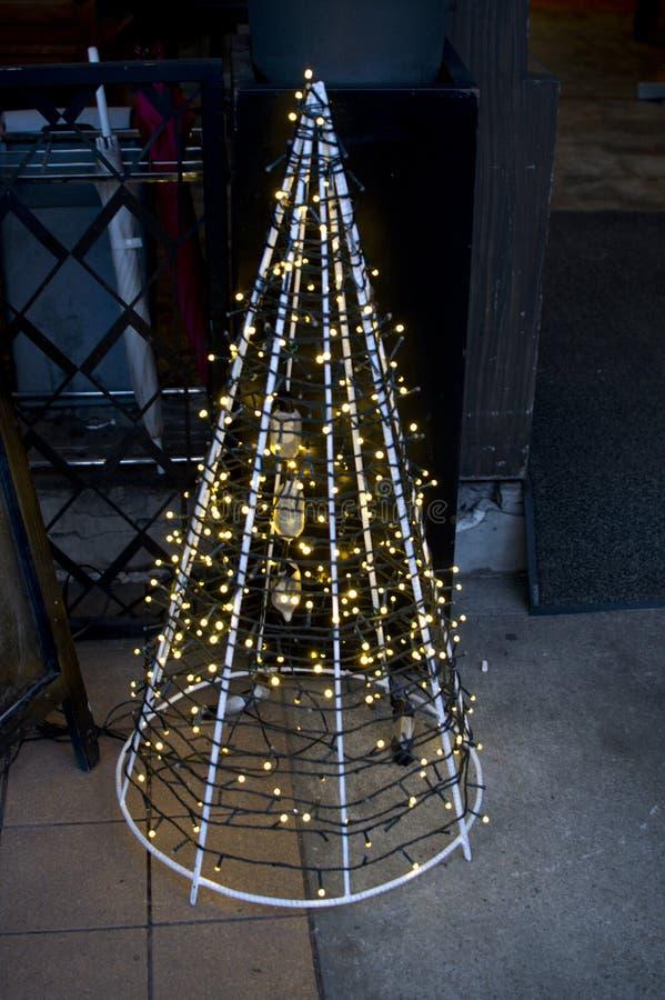 Un fondo della decorazione dell'albero di Natale fotografie stock libere da diritti