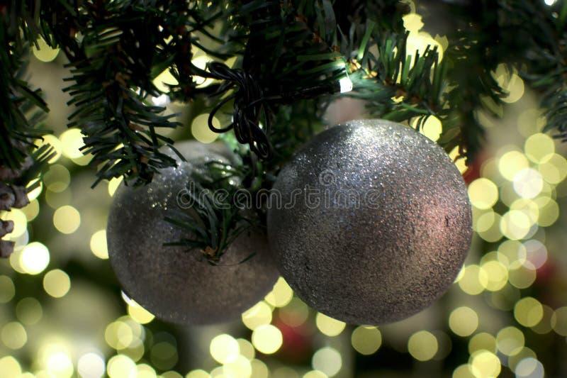 Un fondo della luce dell'albero di Natale fotografia stock libera da diritti