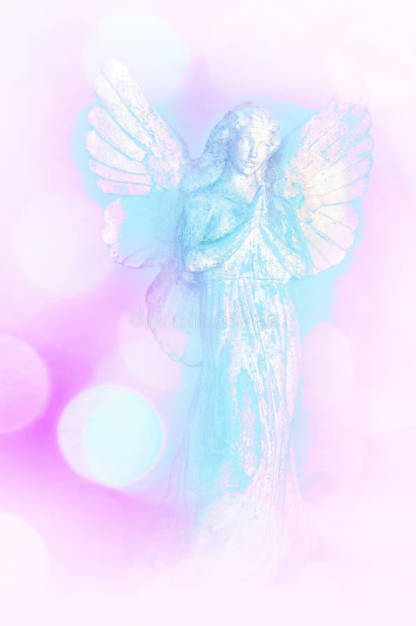 Un fondo di angelo bianco e blu fotografia stock libera da diritti