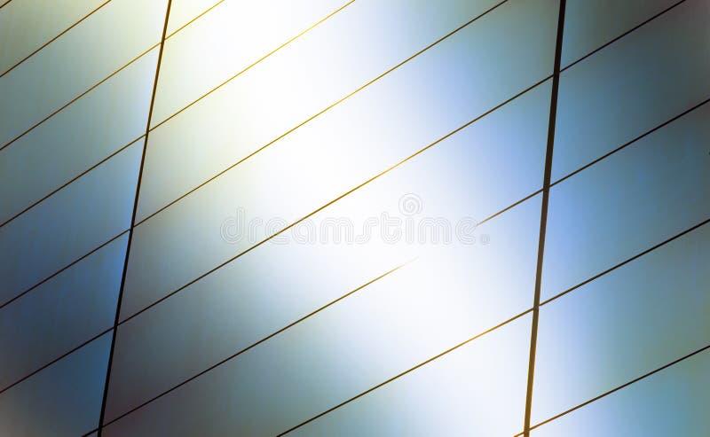 Un fondo luminoso del chiarore di luce solare, dettaglio astratto di architettura contemporanea moderna lucida con lo spazio dell fotografia stock