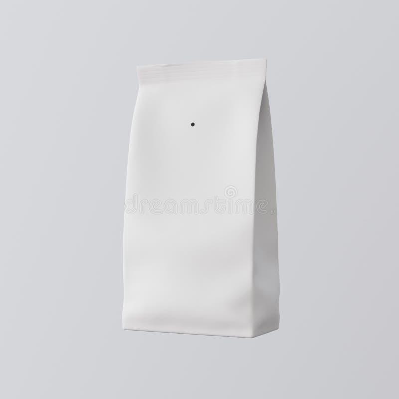 Un fondo vuoto isolato tè dipinto in bianco del caffè dei prodotti alla rinfusa del pacchetto del Libro Bianco Modello pulito dei immagini stock libere da diritti