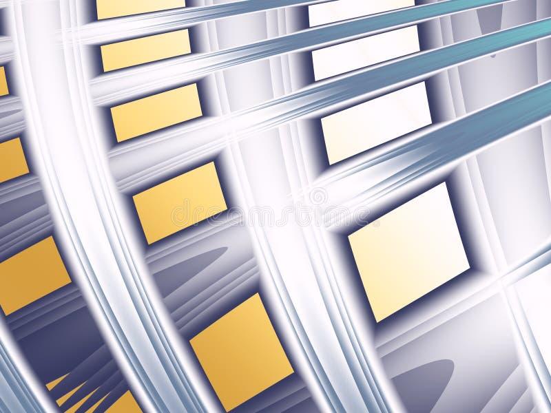 Un fractal con las líneas curvadas que se asemejan a un edificio estilizado stock de ilustración