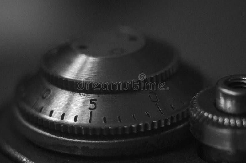 Un fragment d'un appareil-photo FED-3 de film photo stock