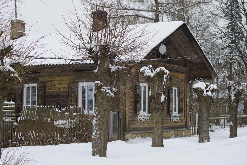 Un fragment d'un du siècle royal de la chasse XIX de Jaeger le plus ancien de bâtiments résidentiels Gatchina, Marienburg photos stock