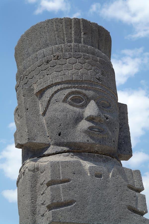 Un fragment d'une statue sainte dans Teotihuacan, Mexique image stock