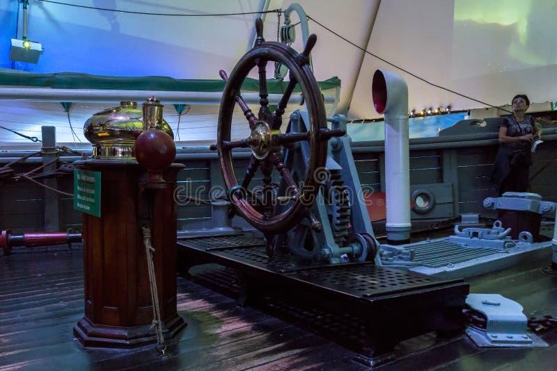 Un fragment du bateau-musée images libres de droits