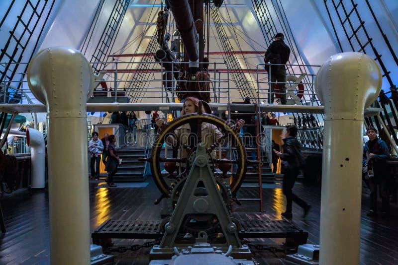 Un fragment du bateau-musée image libre de droits