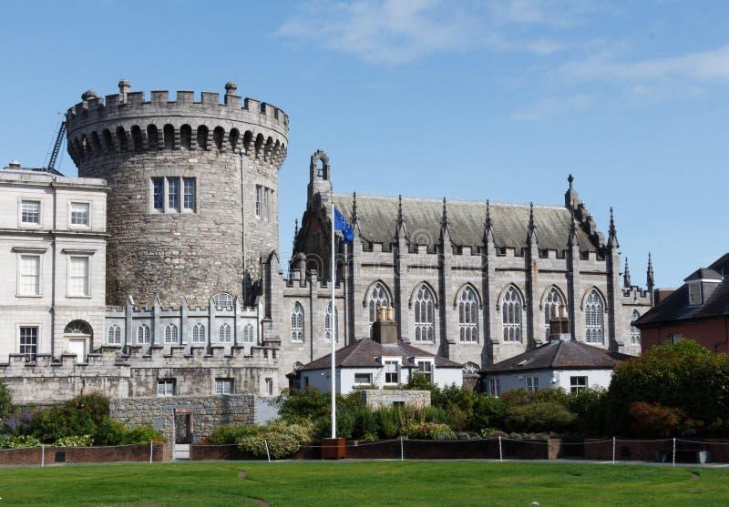 Un fragment du château en Dublin Ireland photos stock