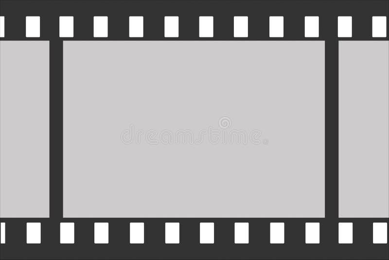 Un frammento della pellicola fotografica con le strutture vuote per un fondo di vettore illustrazione vettoriale