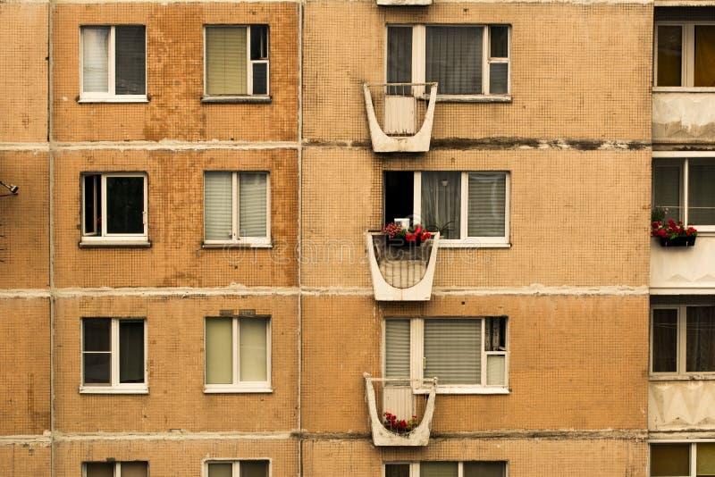 Un frammento delle case di pannello tipiche gli anni settanta del XX secolo, URSS fotografia stock libera da diritti
