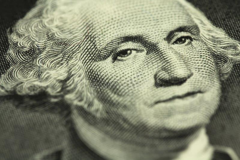 Un frammento di una denominazione di un dollaro americano fotografia stock libera da diritti