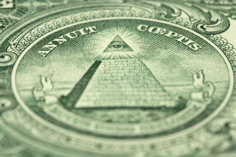 Un frammento di una denominazione di un dollaro americano immagine stock