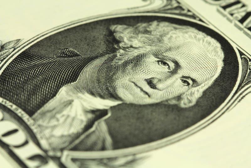Un frammento di una denominazione di un dollaro americano immagini stock