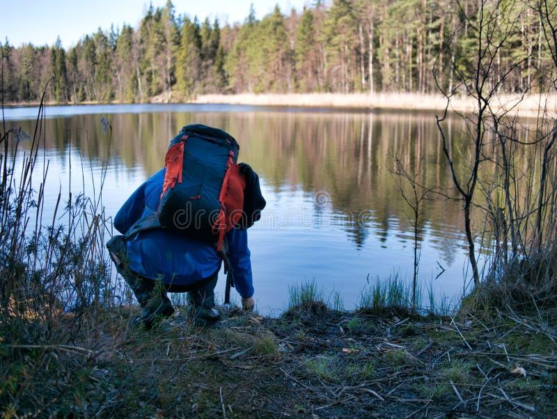 Un freno dal lago fotografie stock