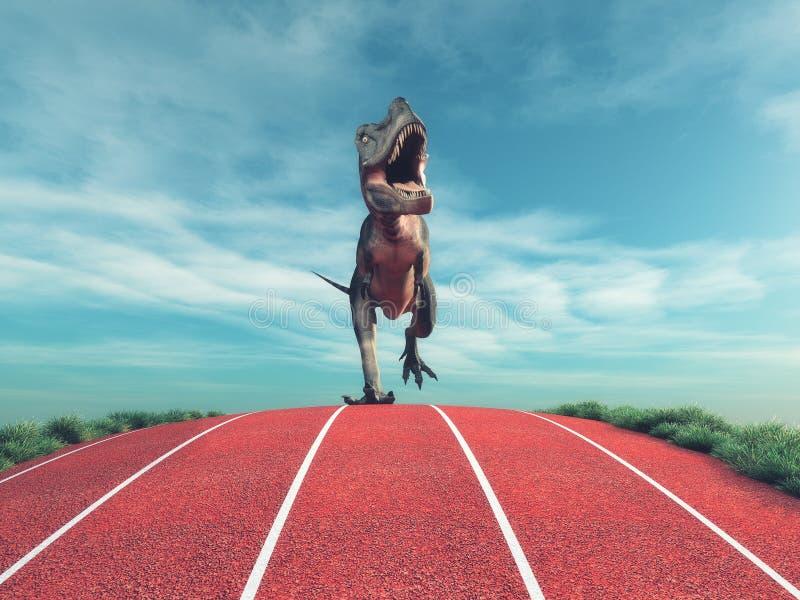 Un funcionamiento del dinosaurio stock de ilustración