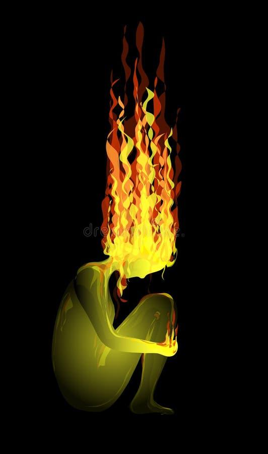 Un fuoco royalty illustrazione gratis