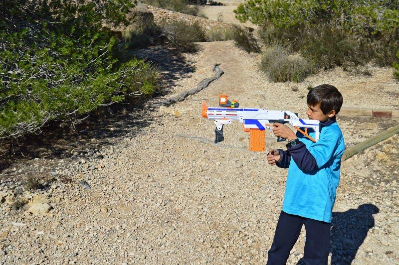 Un fusil de Nerf images stock