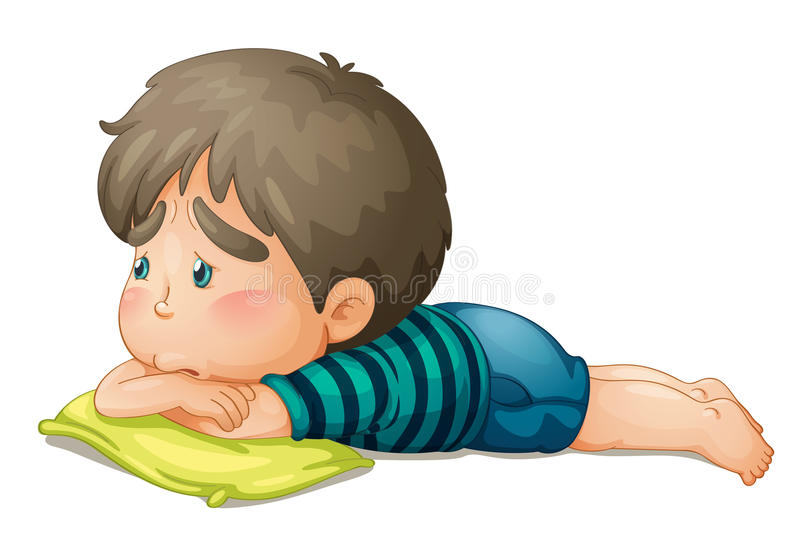 Un garçon illustration stock